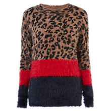 Buy Warehouse Fluffy Colour Block Animal Jumper, Multi Online at johnlewis.com