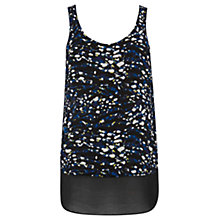 Buy Warehouse Texture Animal Print Vest Top, Multi Online at johnlewis.com