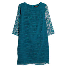 Buy Mango Geometric Dress, Aqua Online at johnlewis.com