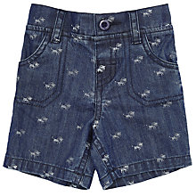 Buy John Lewis Chambray Lion Shorts, Blue Online at johnlewis.com