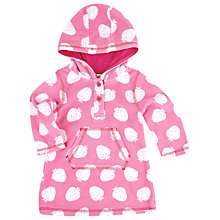 Buy John Lewis Strawberry Poncho, Pink Online at johnlewis.com