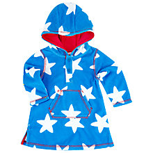 Buy John Lewis Star Poncho, Blue/White Online at johnlewis.com