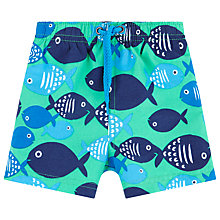 Buy John Lewis Fish Board Shorts, Green/Blue Online at johnlewis.com