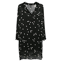 Buy Mango Star Print Chiffon Dress, Black Online at johnlewis.com
