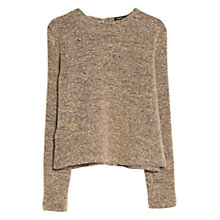 Buy Mango Wool Blend Knit Sweater, Light Beige Online at johnlewis.com