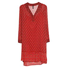 Buy Mango Printed Chiffon Dress, Bright Red Online at johnlewis.com