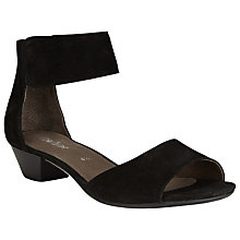 Buy Gabor Elvira Nubuck Heeled Sandals, Black Online at johnlewis.com