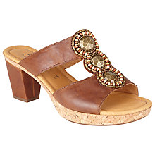 Buy Gabor Illuminate Block Heeled Leather Sandals Online at johnlewis.com