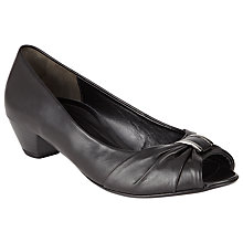 Buy Gabor Sookie Wide Fit Leather Court Shoes, Black Online at johnlewis.com
