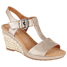 Buy Gabor Karen Wide Fit Leather Wedge Sandals Online at johnlewis.com