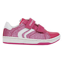 Buy Geox Junior Mania Twin Rip-Tape Trainers, Fuchsia Online at johnlewis.com