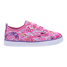 Buy Geox Junior Ciak Embellished Canvas Trainers, Pink/Multi Online at johnlewis.com