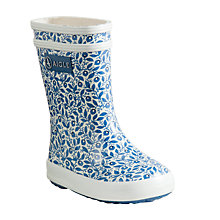 Buy Aigle Baby Flac Blueberry Print Wellington Boots, Blue Online at johnlewis.com