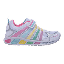 Buy Geox Shuttle Trainers, White/Multi Online at johnlewis.com
