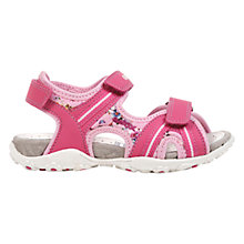 Buy Geox Roxanne Twin Rip-Tape Sandals, Fuchsia Online at johnlewis.com