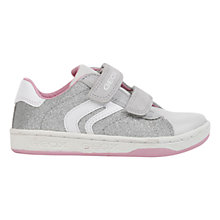 Buy Geox Mania Twin Rip-Tape Glitter Trainers, Silver Online at johnlewis.com