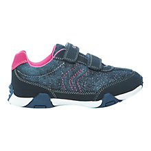 Buy Geox Junior Tale Rip-Tape Trainers, Navy Online at johnlewis.com