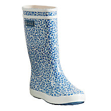 Buy Aigle Children's Lollypop Blueberry Wellington Boots, Blue Online at johnlewis.com