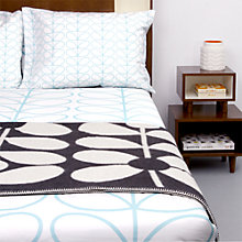 Buy Orla Kiely Large Linear Stem Bedding, Duck Egg Online at johnlewis.com