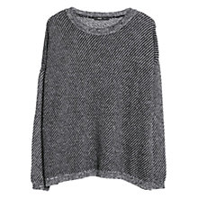 Buy Mango Textured Mohair Wool Blend Sweater, Black Online at johnlewis.com