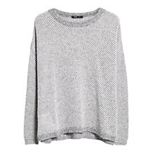 Buy Mango Textured Mohair Wool Blend Jumper, Light Pastel Grey Online at johnlewis.com
