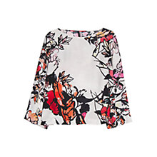 Buy Mango Printed Flowy Blouse, Multi Online at johnlewis.com