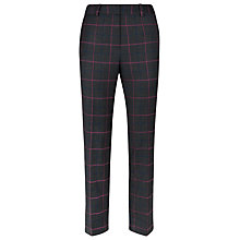 Buy Planet Multi Checked Trousers, Charcoal Online at johnlewis.com