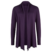 Buy Kaliko Waterfall Cardigan, Dark Purple Online at johnlewis.com