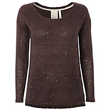 Buy White Stuff Sparkler Jumper, Dewberry Grey Online at johnlewis.com