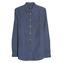 Buy Mango Decorative Pocket Shirt, Navy Online at johnlewis.com
