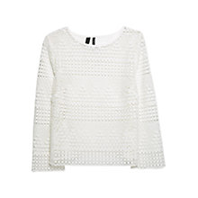 Buy Violeta by Mango Crochet Blouse, Natural White Online at johnlewis.com