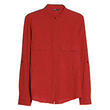 Buy Mango Houndstooth Shirt, Bright Red Online at johnlewis.com