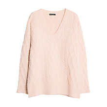 Buy Mango Cable Knit Jumper, Medium Pink Online at johnlewis.com