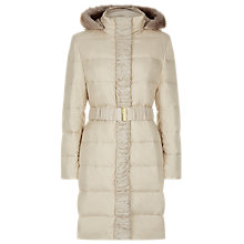 Buy Precis Petite Ruched Padded Coat, Champagne Online at johnlewis.com