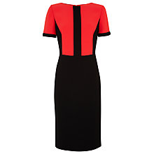 Buy Planet Colour Block Dress, Black / Red Online at johnlewis.com