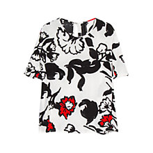 Buy Mango Floral Print Blouse, White Online at johnlewis.com