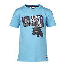 Buy LEGO Star Wars Vader Timmy T-Shirt, Bright Blue Online at johnlewis.com