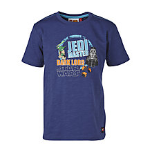 Buy LEGO Star Wars Yoda Jedi Master T-Shirt, Navy Online at johnlewis.com