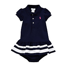 Buy Polo Ralph Lauren Baby Polo Bodysuit Dress, Navy Online at johnlewis.com