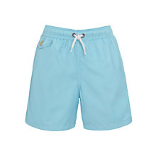 Buy Polo Ralph Lauren Boys' Swim Shorts, Light Blue Online at johnlewis.com