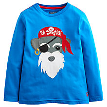 Buy Little Joule Boys' Jack Sea Dog Motif Top, Bright Blue Online at johnlewis.com
