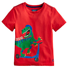 Buy Little Joule Boys' Archie Dinosaur T-Shirt, Red Online at johnlewis.com