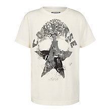 Buy Converse Boys' Star Print T-Shirt, White Online at johnlewis.com