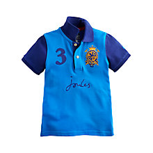 Buy Little Joule Boys' Colour Block Polo Shirt, Blue Online at johnlewis.com