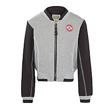 Buy Converse Girls' Bomber Jacket, Grey/Black Online at johnlewis.com