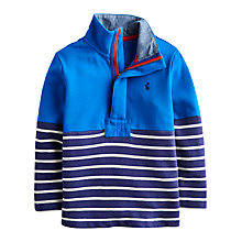 Buy Little Joule Boys' Captain Half-Zip Stripe Sweatshirt, Blue Online at johnlewis.com