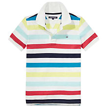 Buy Tommy Hilfiger Boys' Short Sleeve Seasonal Polo Shirt, White Online at johnlewis.com