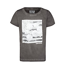 Buy Converse Girls' Floral Flag T-Shirt, Grey Online at johnlewis.com