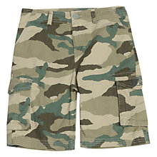 Buy Animal Boys' Camouflage Print Cargo Shorts, Green Online at johnlewis.com