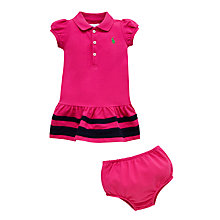 Buy Polo Ralph Lauren Baby's Polo Dress, Pink Online at johnlewis.com